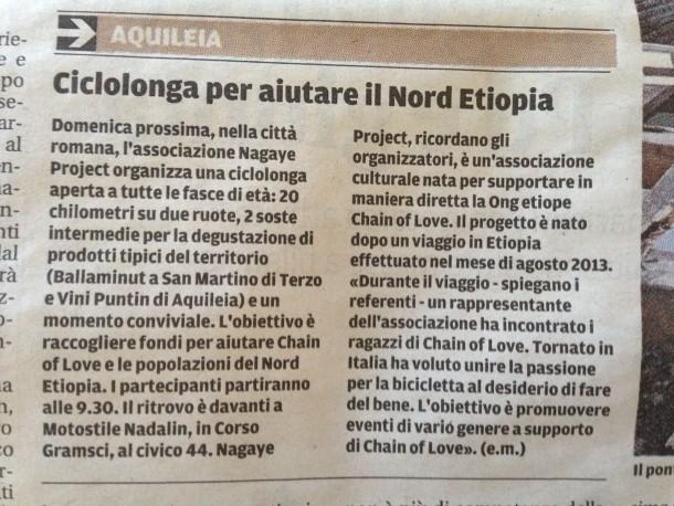 Nagaye Day - Ciclolonga Aquileia 2017