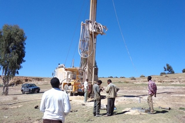 Creating water wells